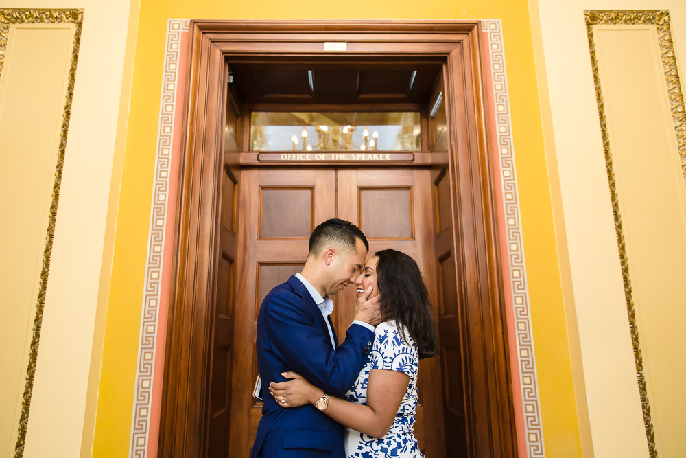 Engagement session in the Office of the Speaker at the Capitol Building in DC