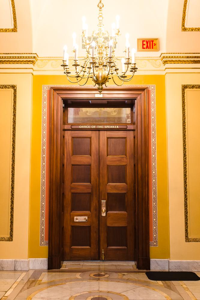 Door to the Office of the Speaker in the U.S. Capitol