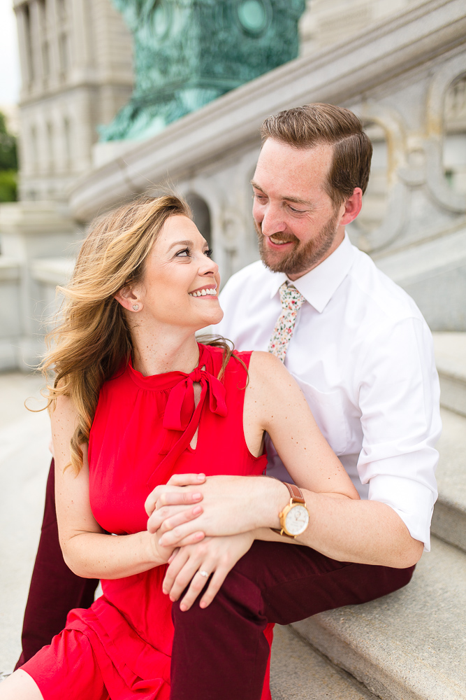 Candid photography engagement session in Washington, DC