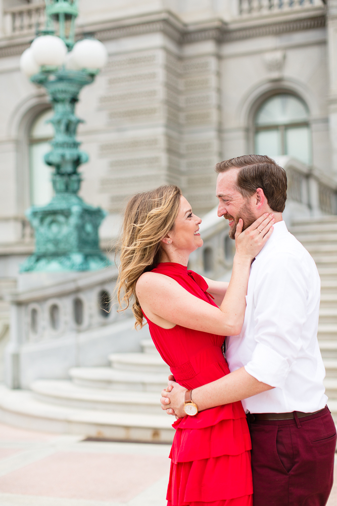Engagement session at the Library of Congress in Washington, DC