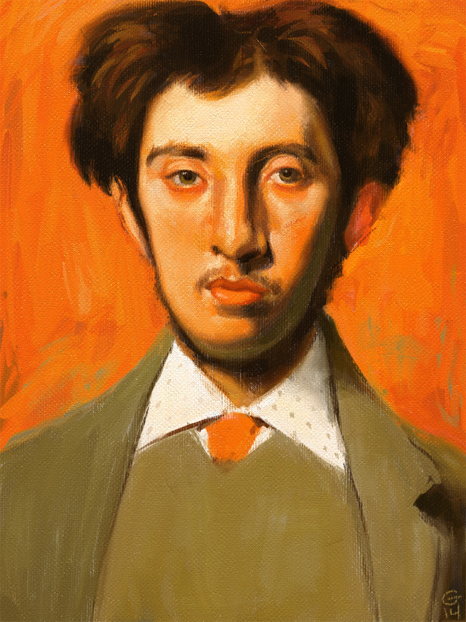 Study of Degas' The Painter Albert Melida