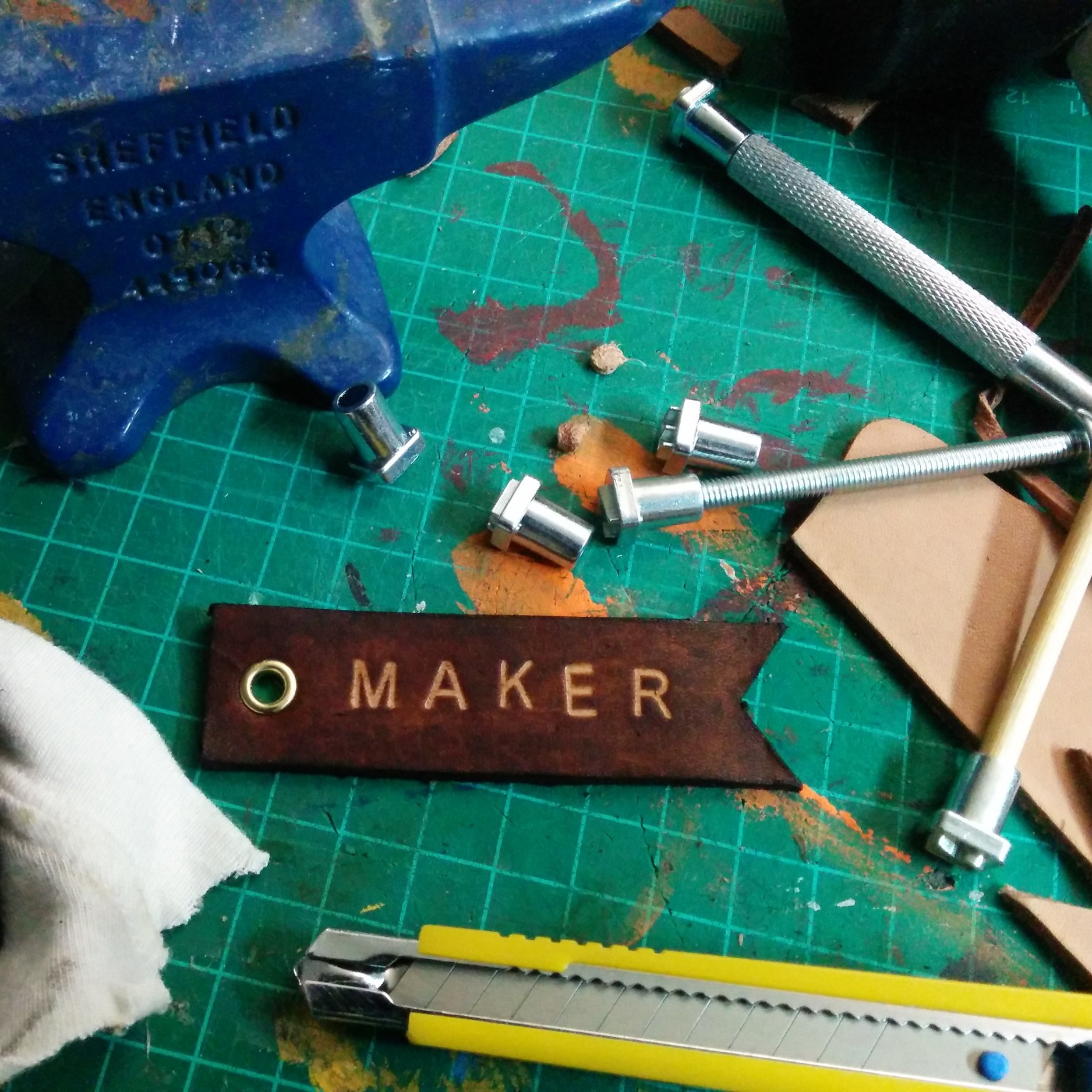 June 23 : Embossed Leather Key Chains
