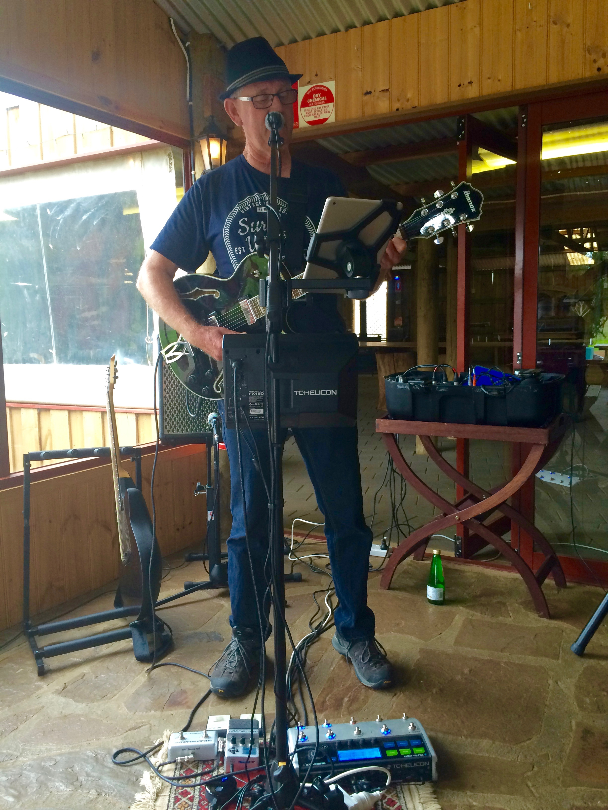 Our local and talented musician, Graham, getting down on the guitar.