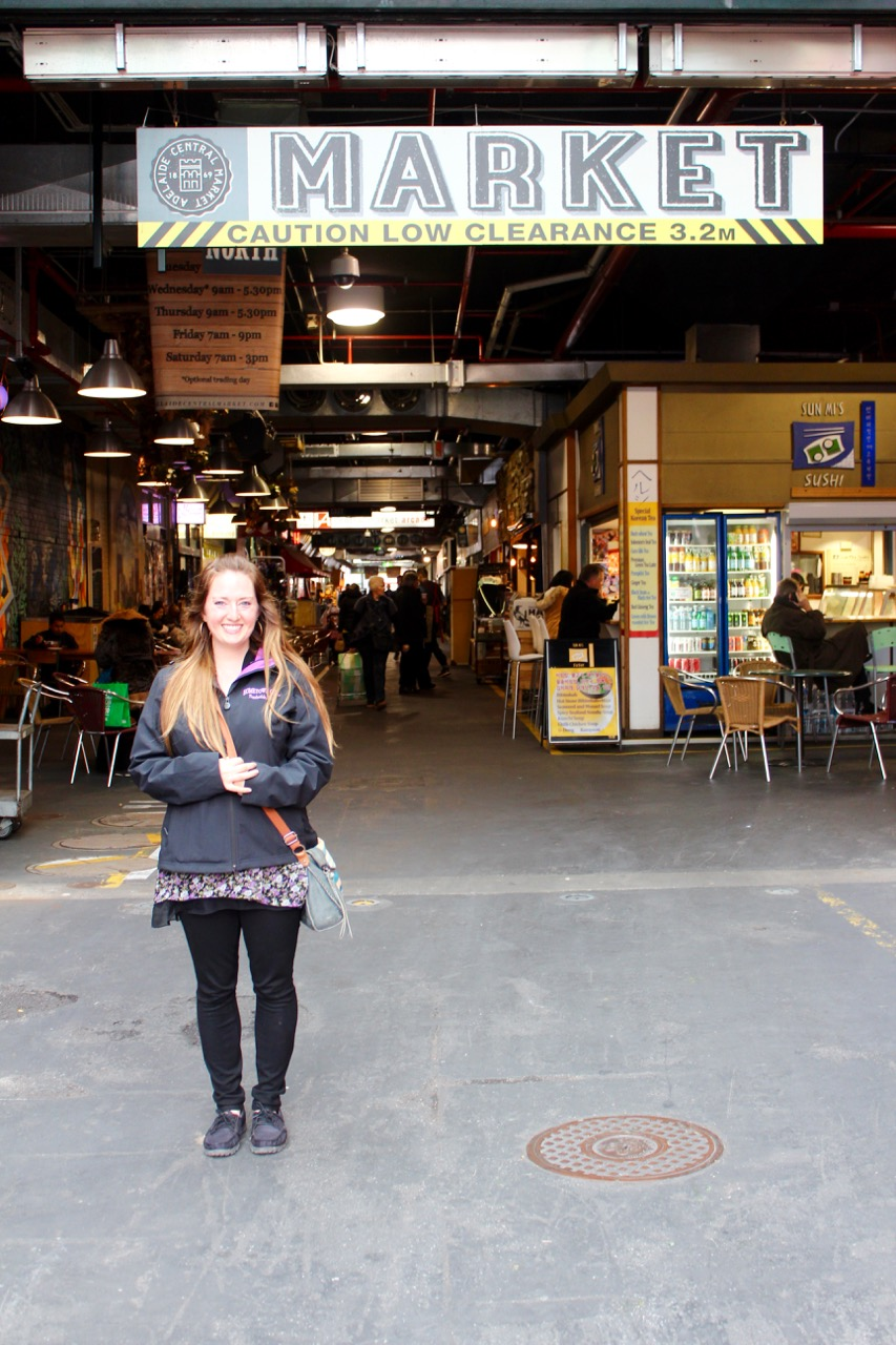 Me at the Central Adelaide Market