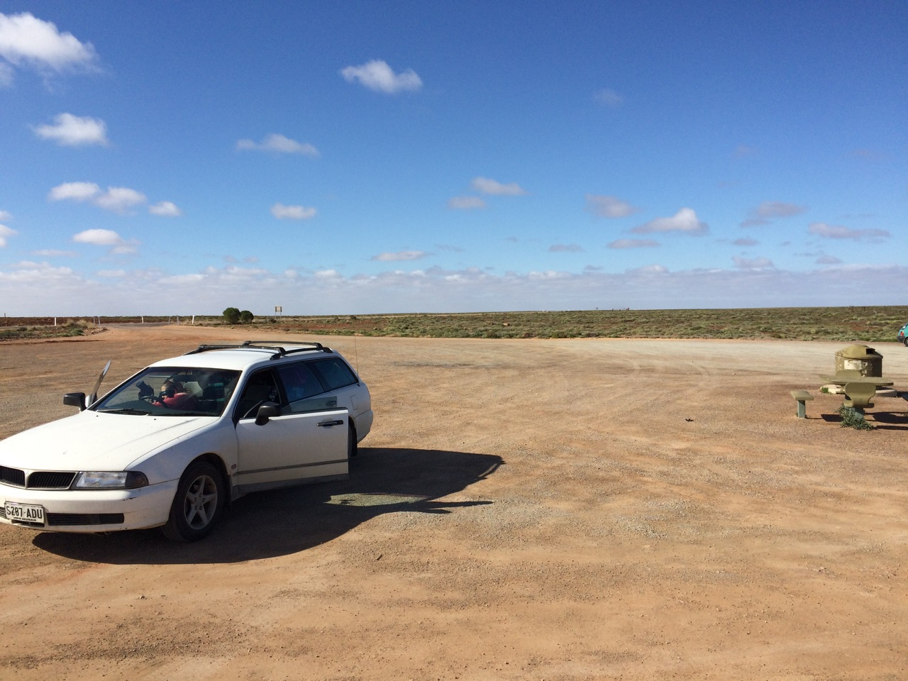 Our car, just casually hanging out in the outback.