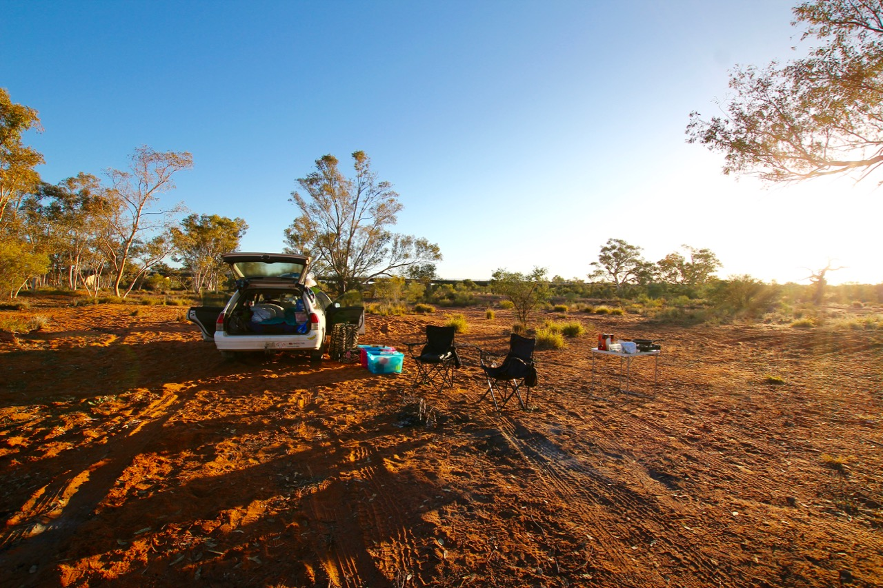 Our beautiful highway-side camping location.  Photo: Colourful Adventure
