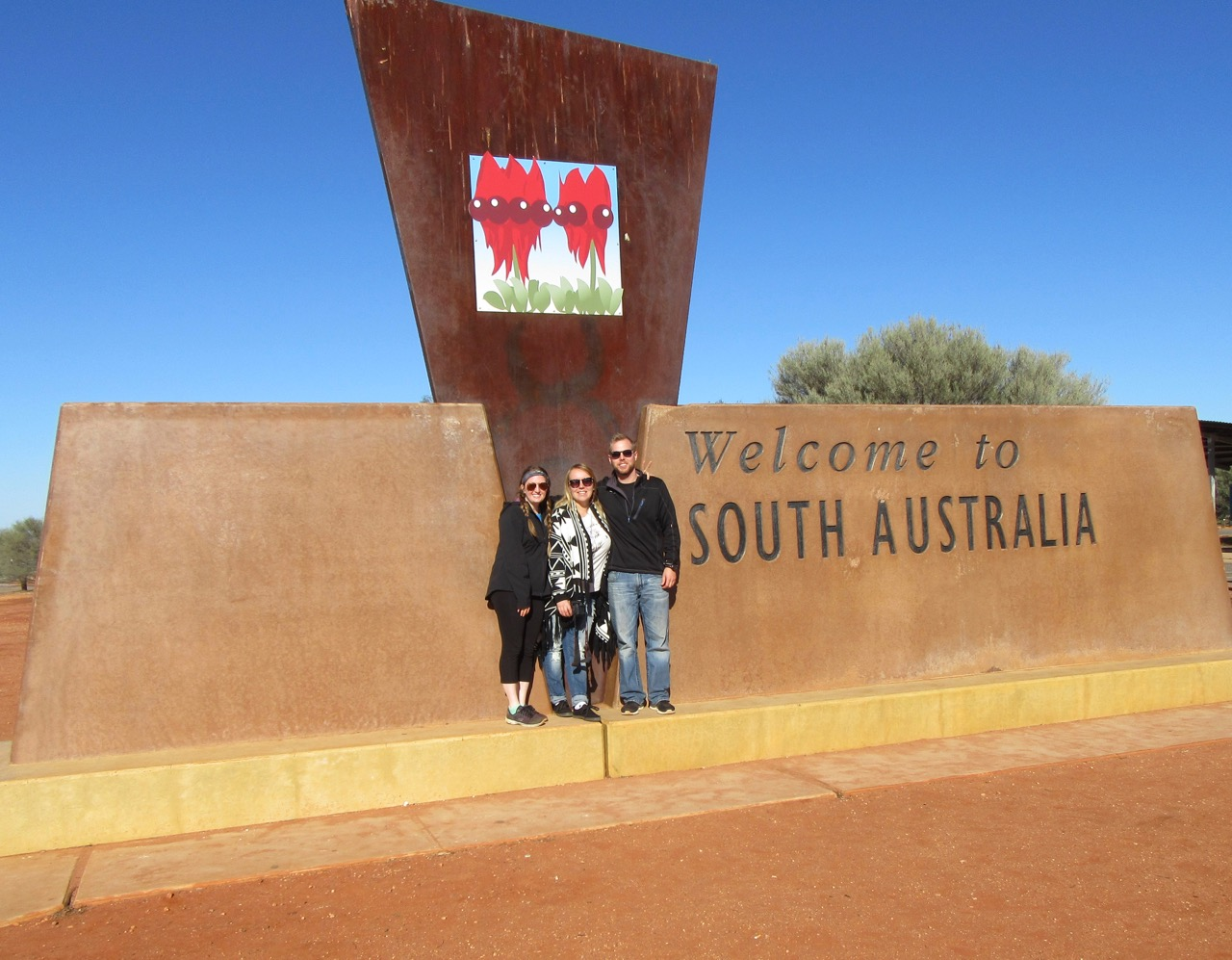 We were actually leaving South Australia but hey it was a good photo opp!