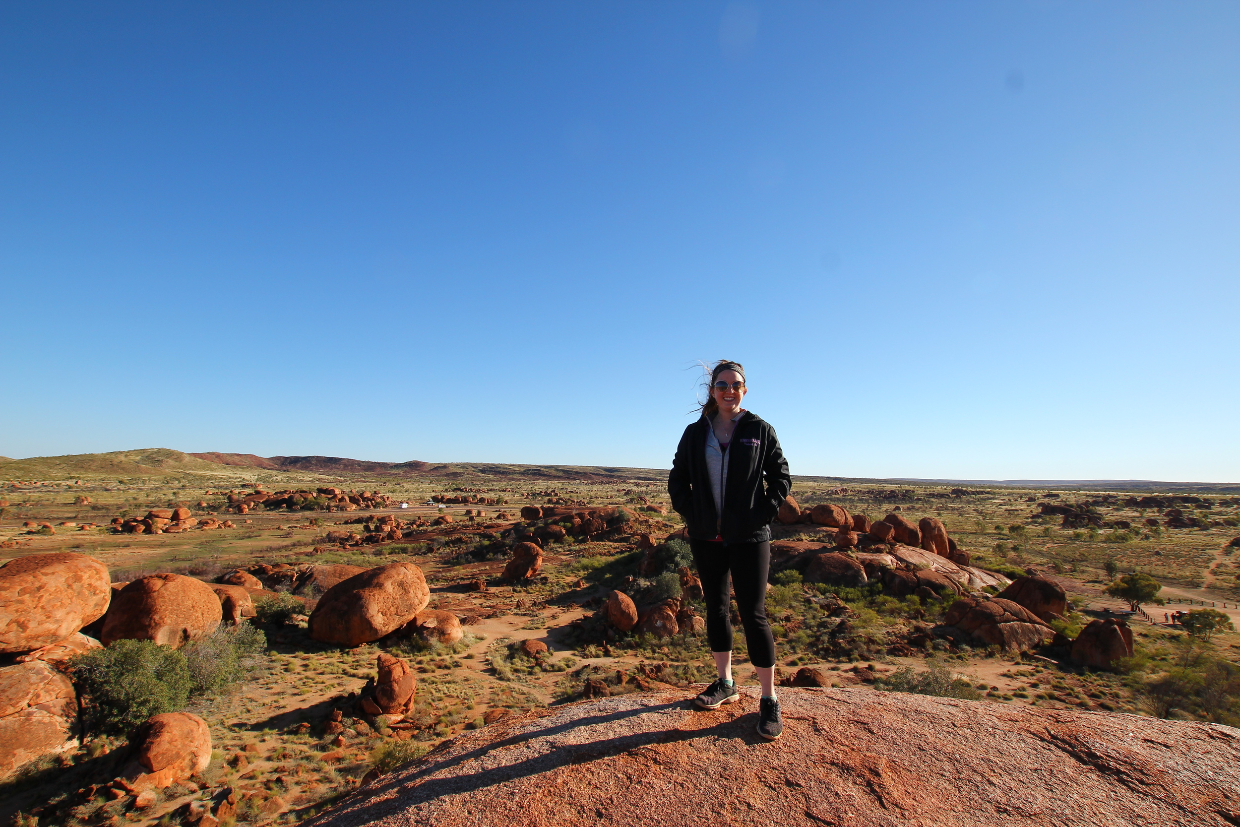 On top of the Devil's Marbles.  Photo: Colourful Adventure