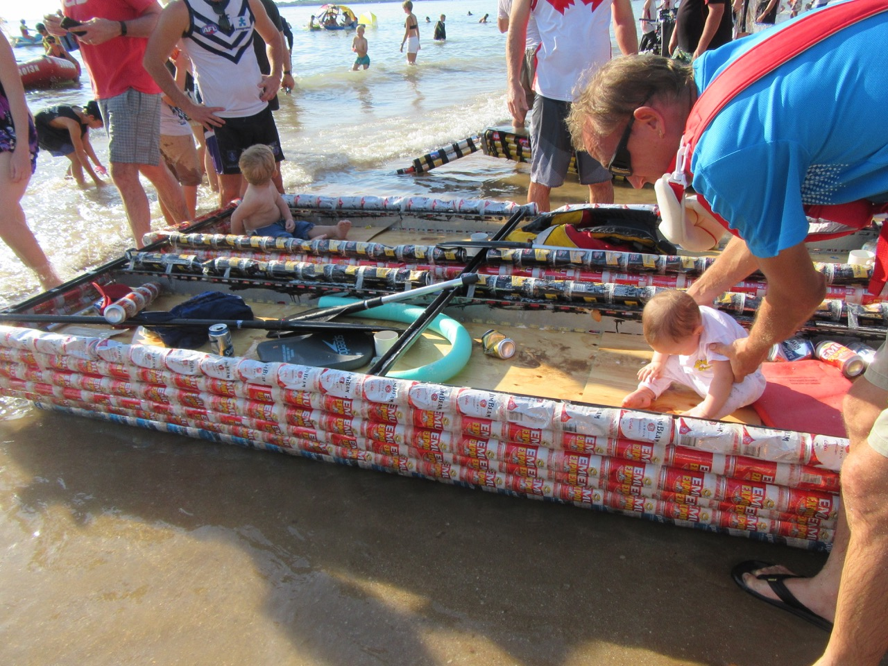 A brief look at one of the Beer Can Boats.