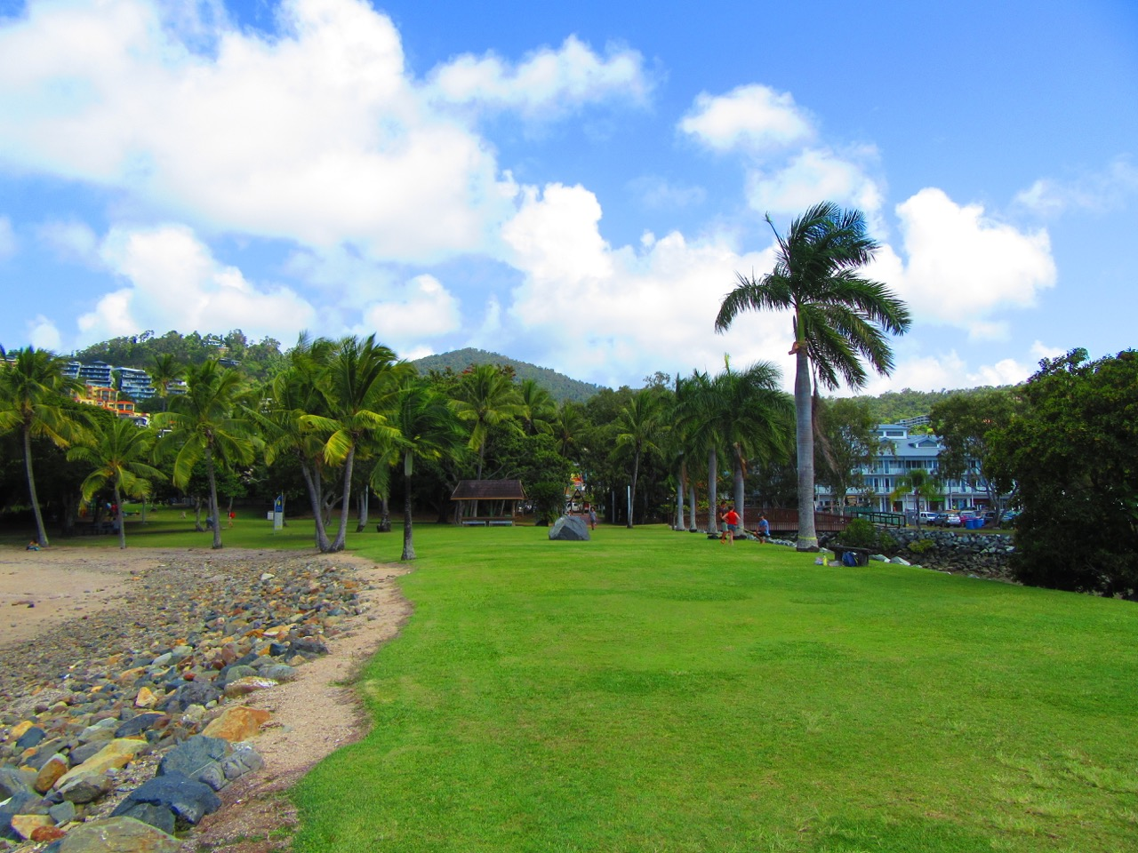 One of the beautiful parks in Airlie Beach