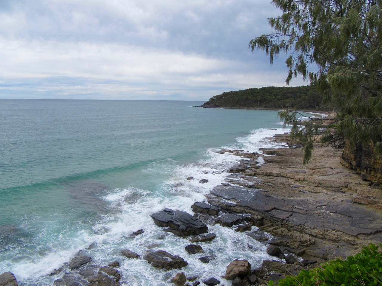 A cloudy but beautiful day at Noosa National Park.