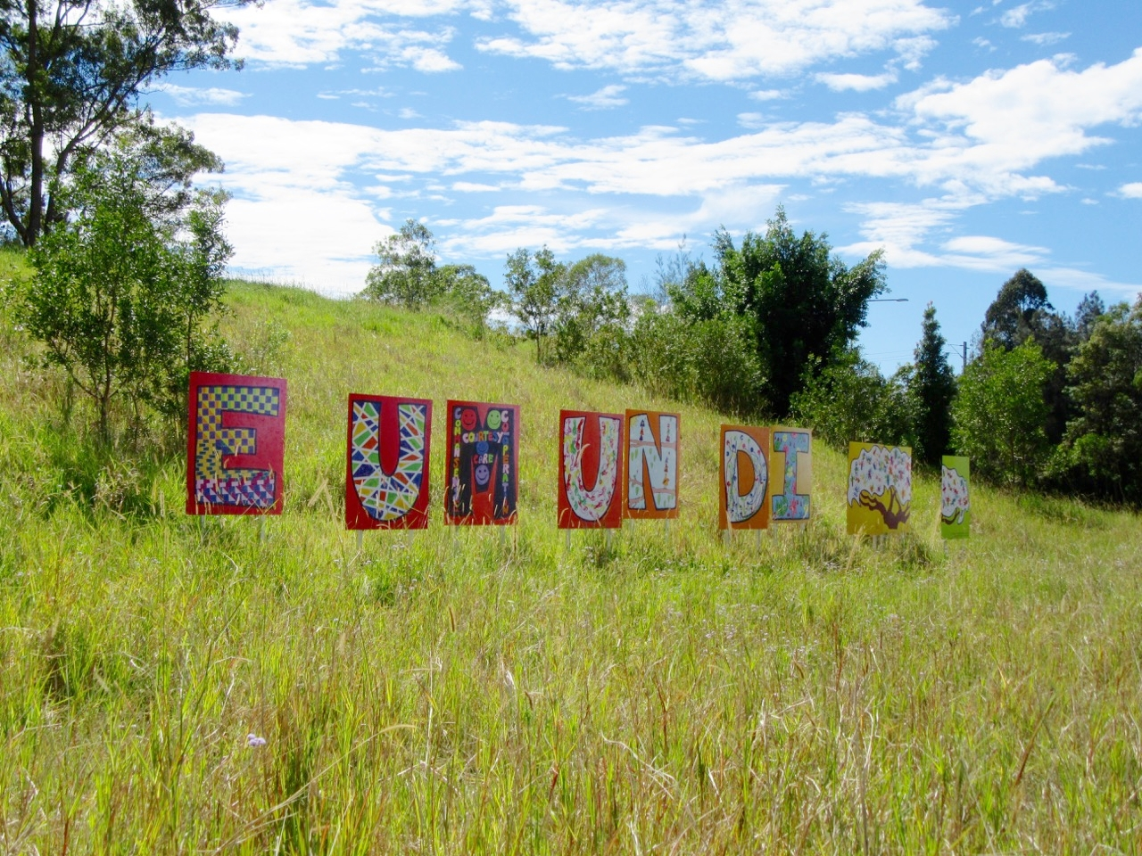 The welcome sign for Eumundi was adorable!