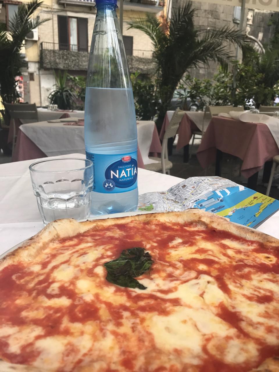 A traditional Napoli Pizza.