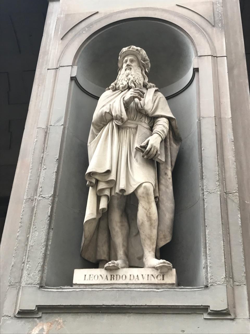 Outside of the Uffizi Museum