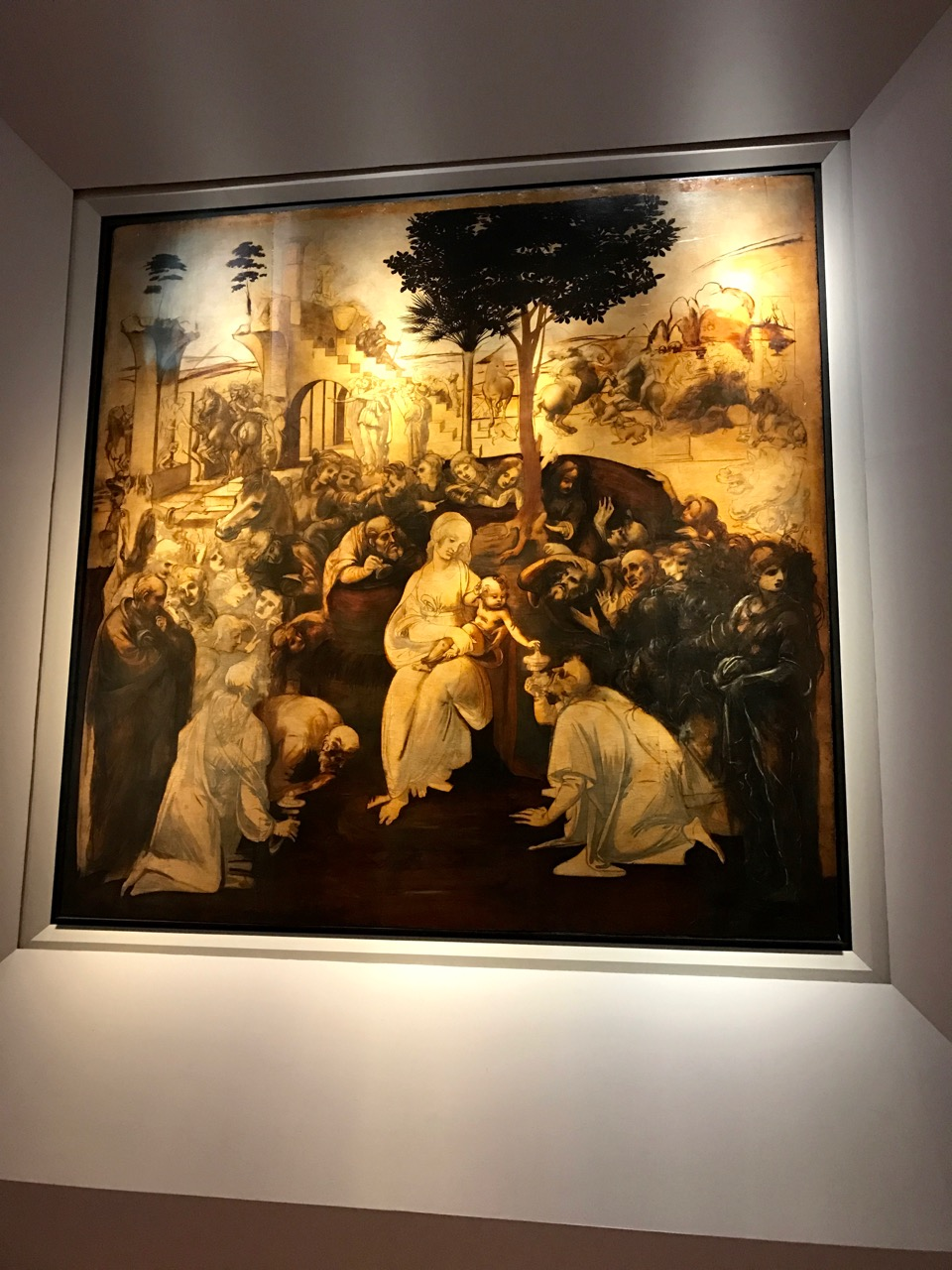 Unfinished work by da Vinci