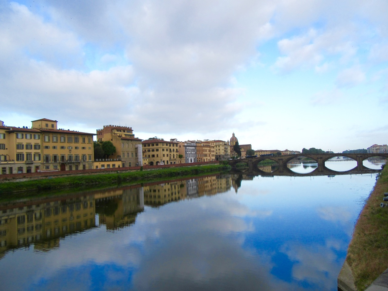 Across from Ponte Vecchio, Florence, Italy. Haley Hoover 2017.