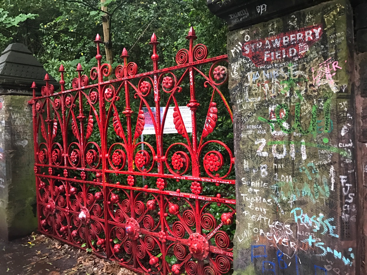 The gate to Strawberry Fields in Liverpool