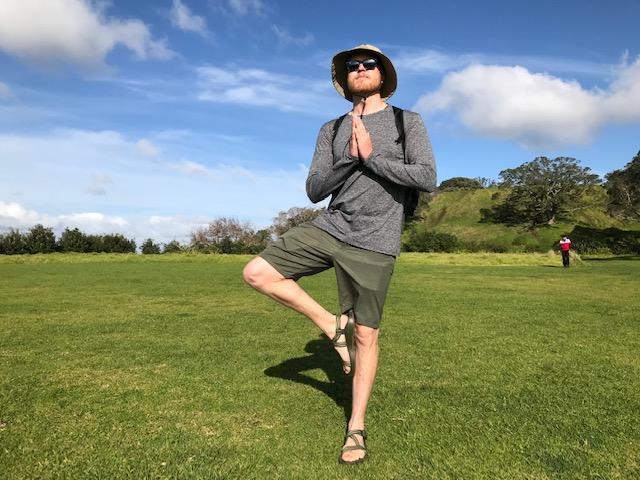 Yoga On top of Mount Eden