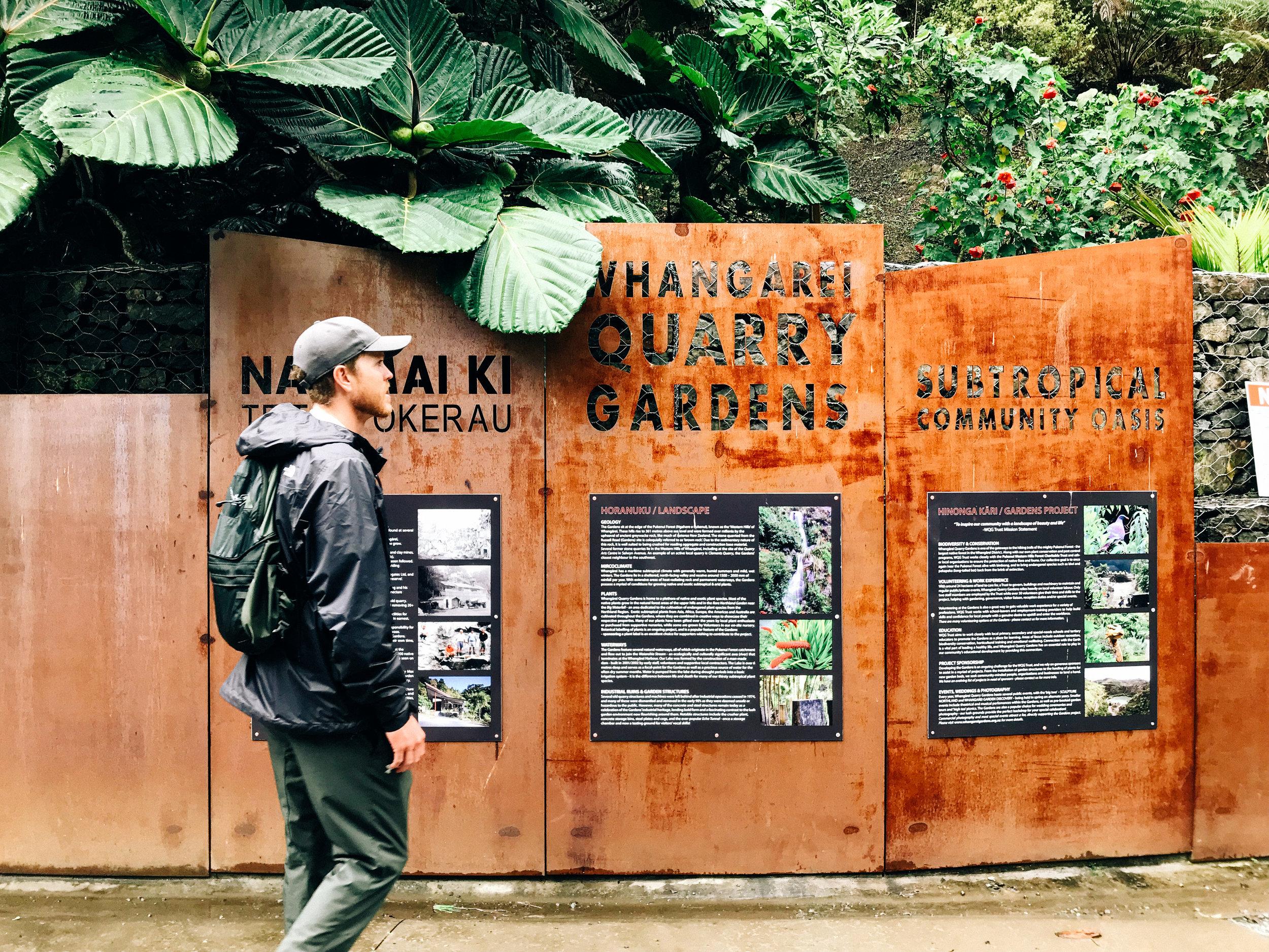 Quarry Gardens in Whangarei, NZ