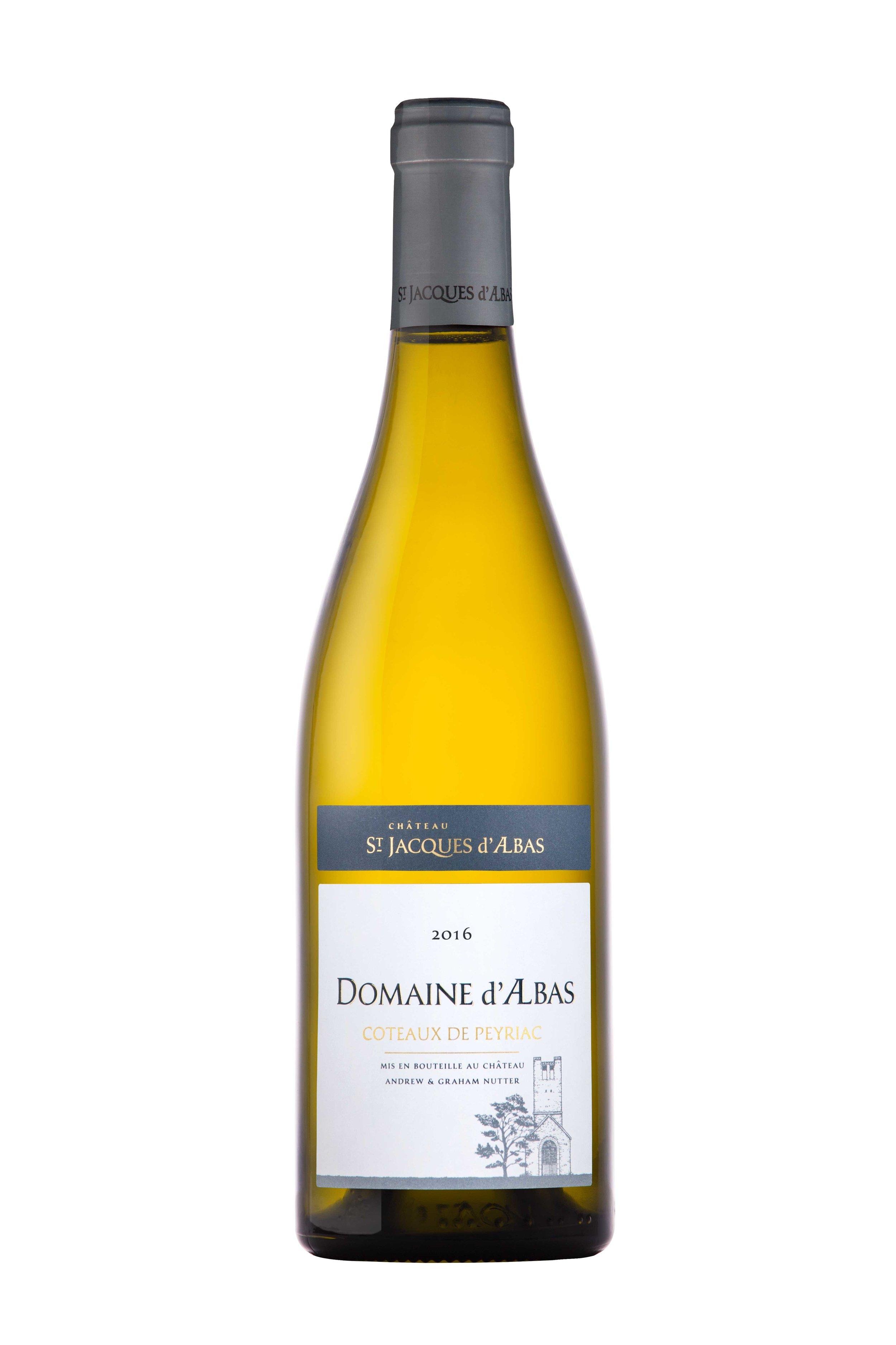 Domaine white bottle photo - Chateau St. Jacques