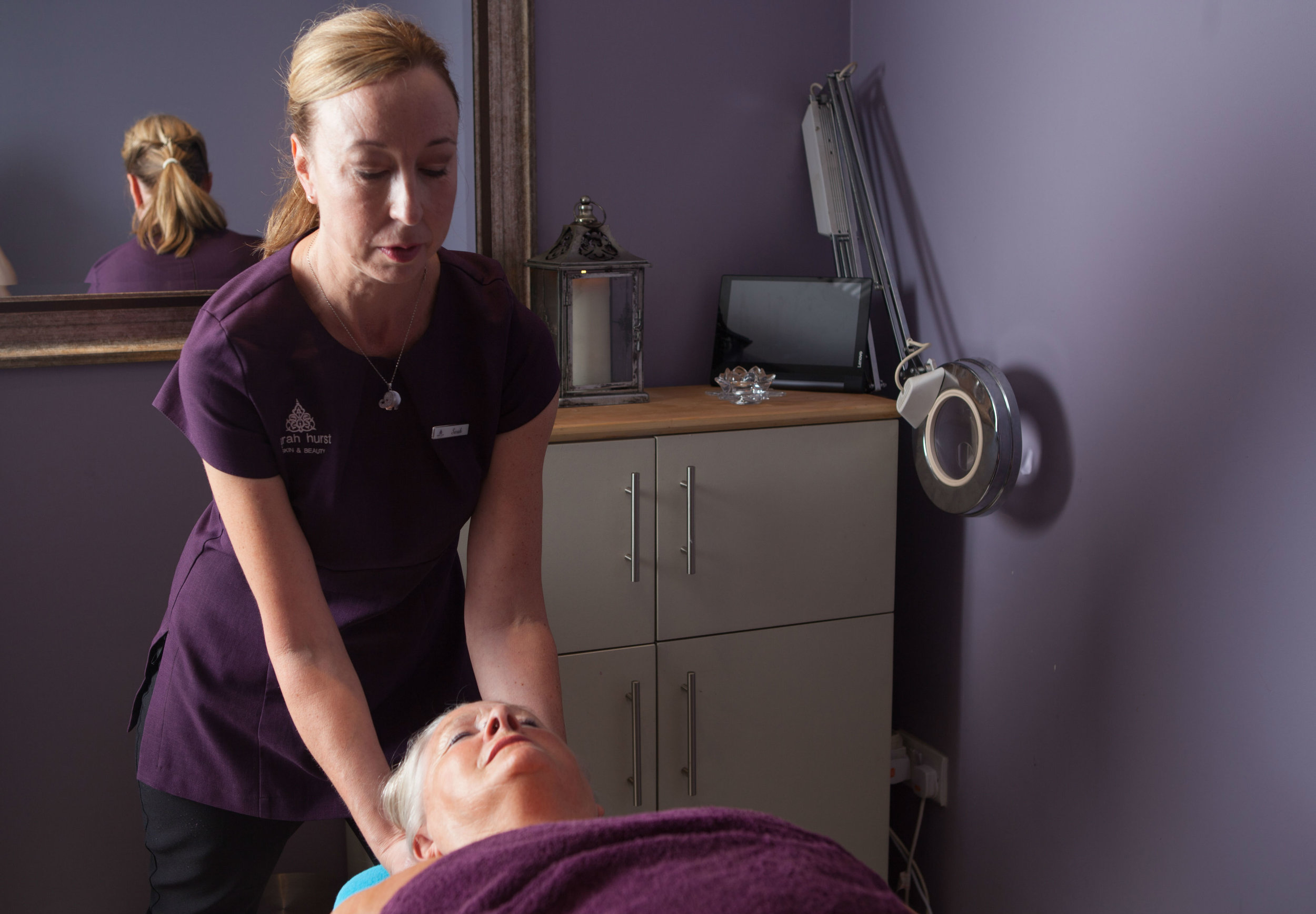 Sarah giving a massage