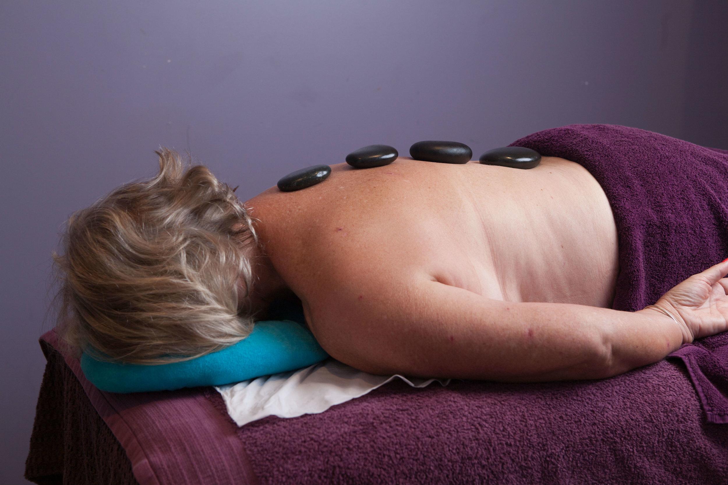 Luxury hot stone massage in Brighton