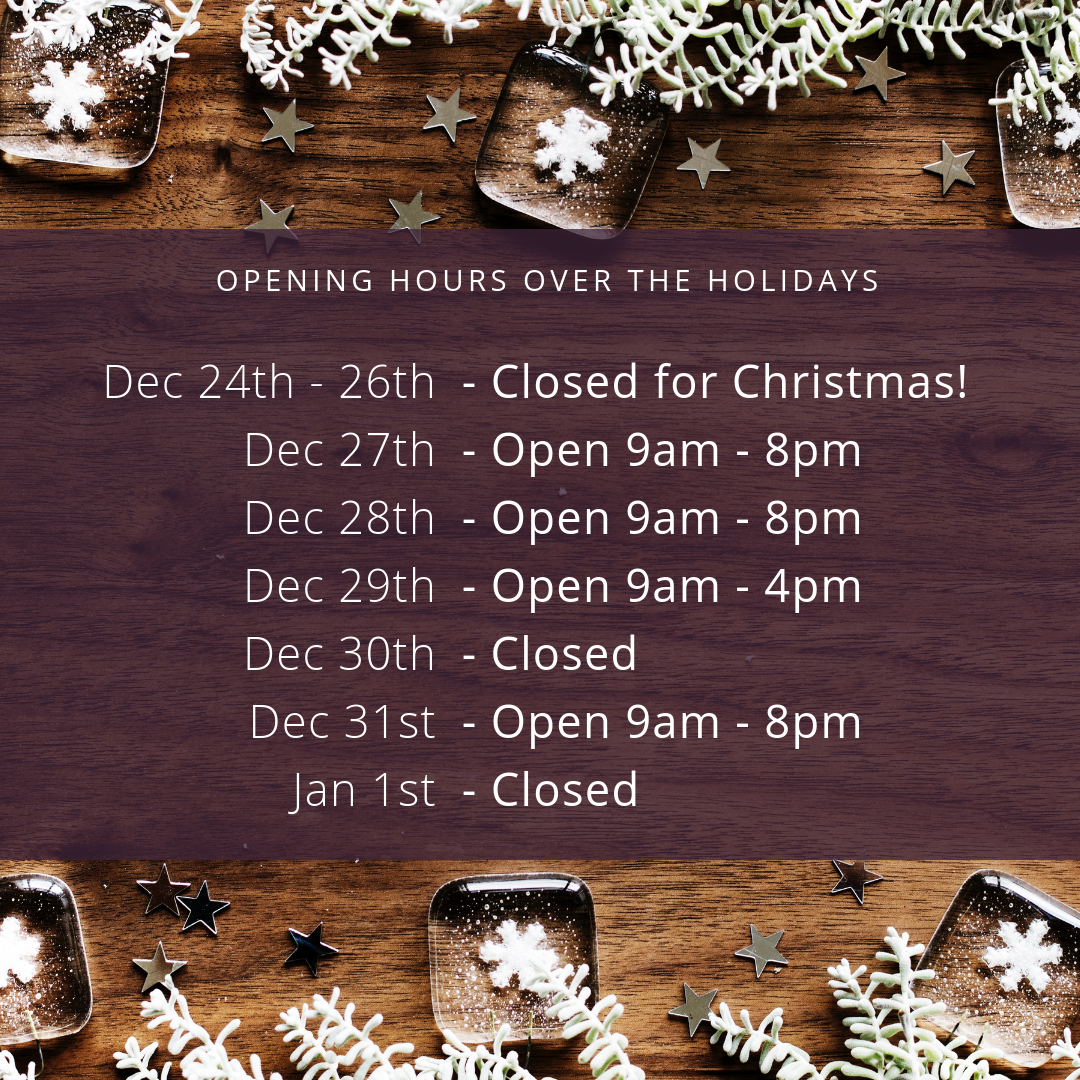 Christmas Opening Hours at Sarah Hurst Skin and Beauty