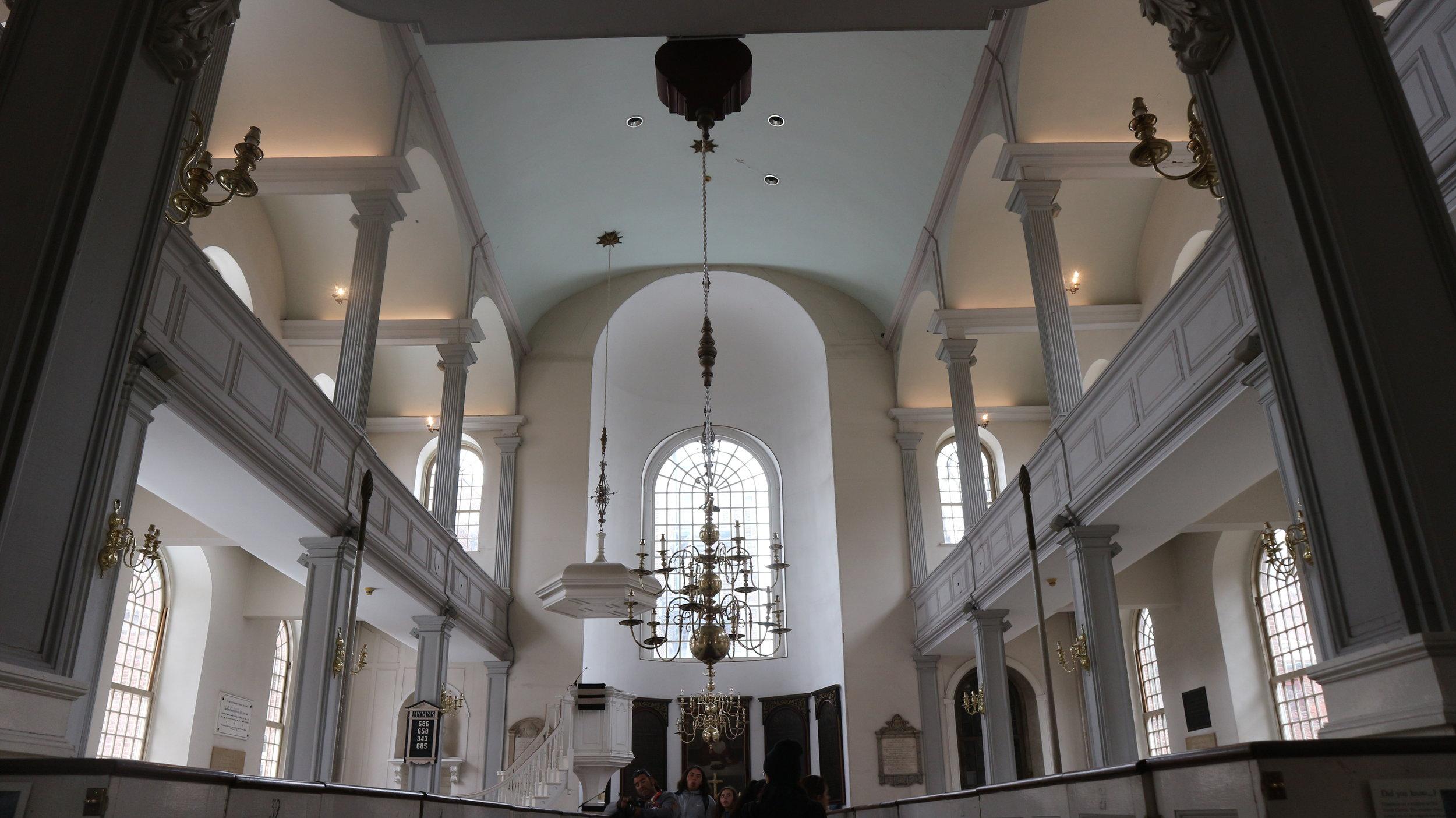 Inside Old North Church