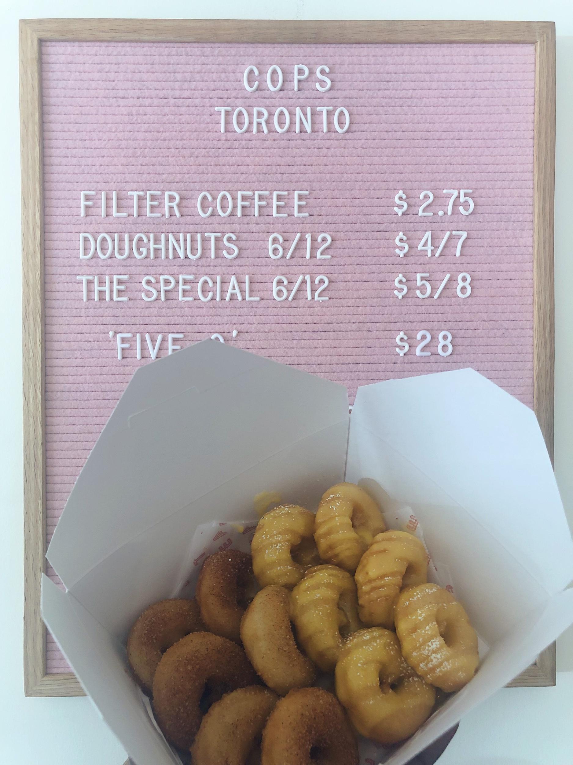 Cinnamon & Mango Lassi donuts from Cops