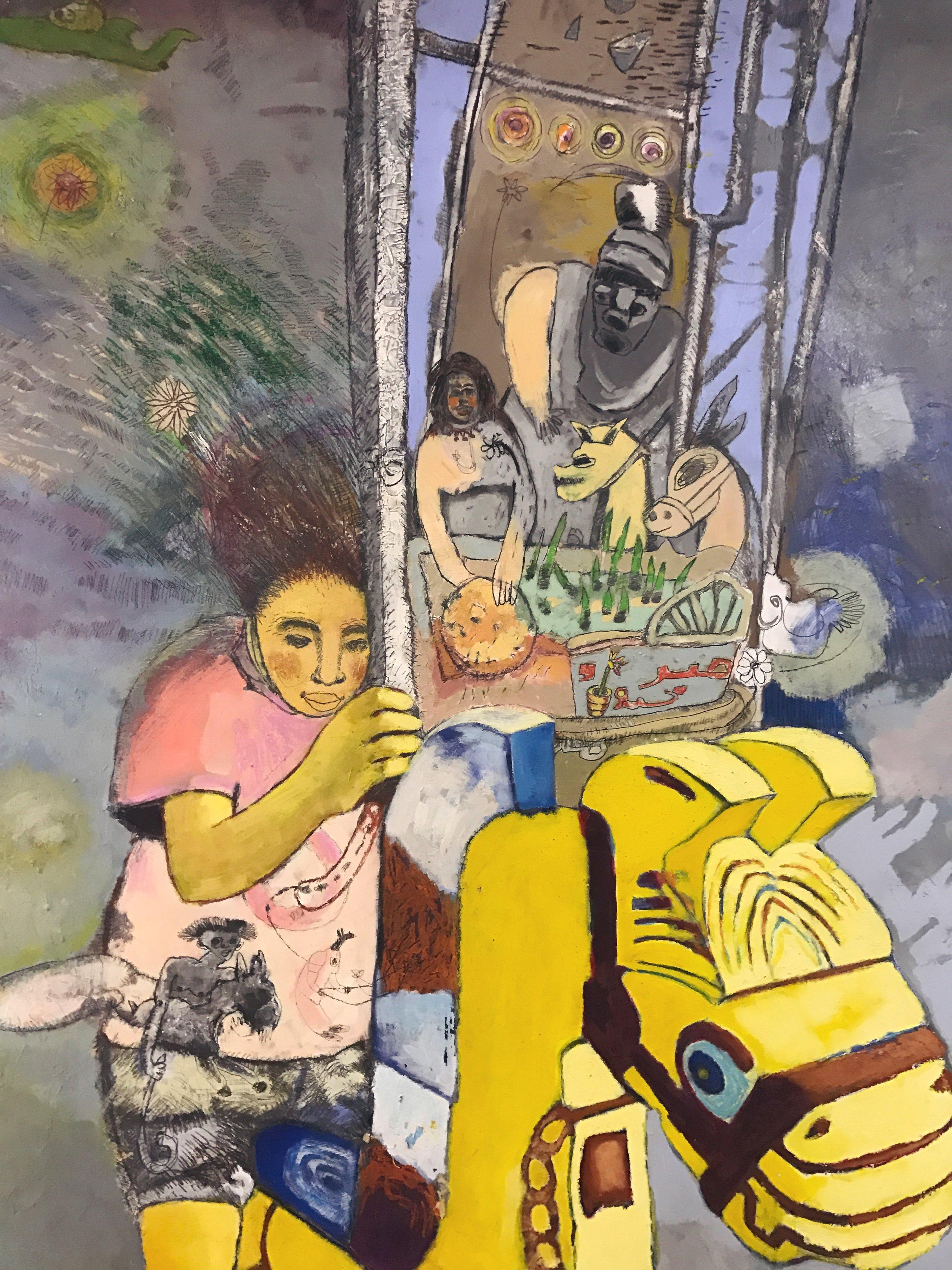 Shereen Mostafa   Mixed media on canvas  153 x 120 cm  2013