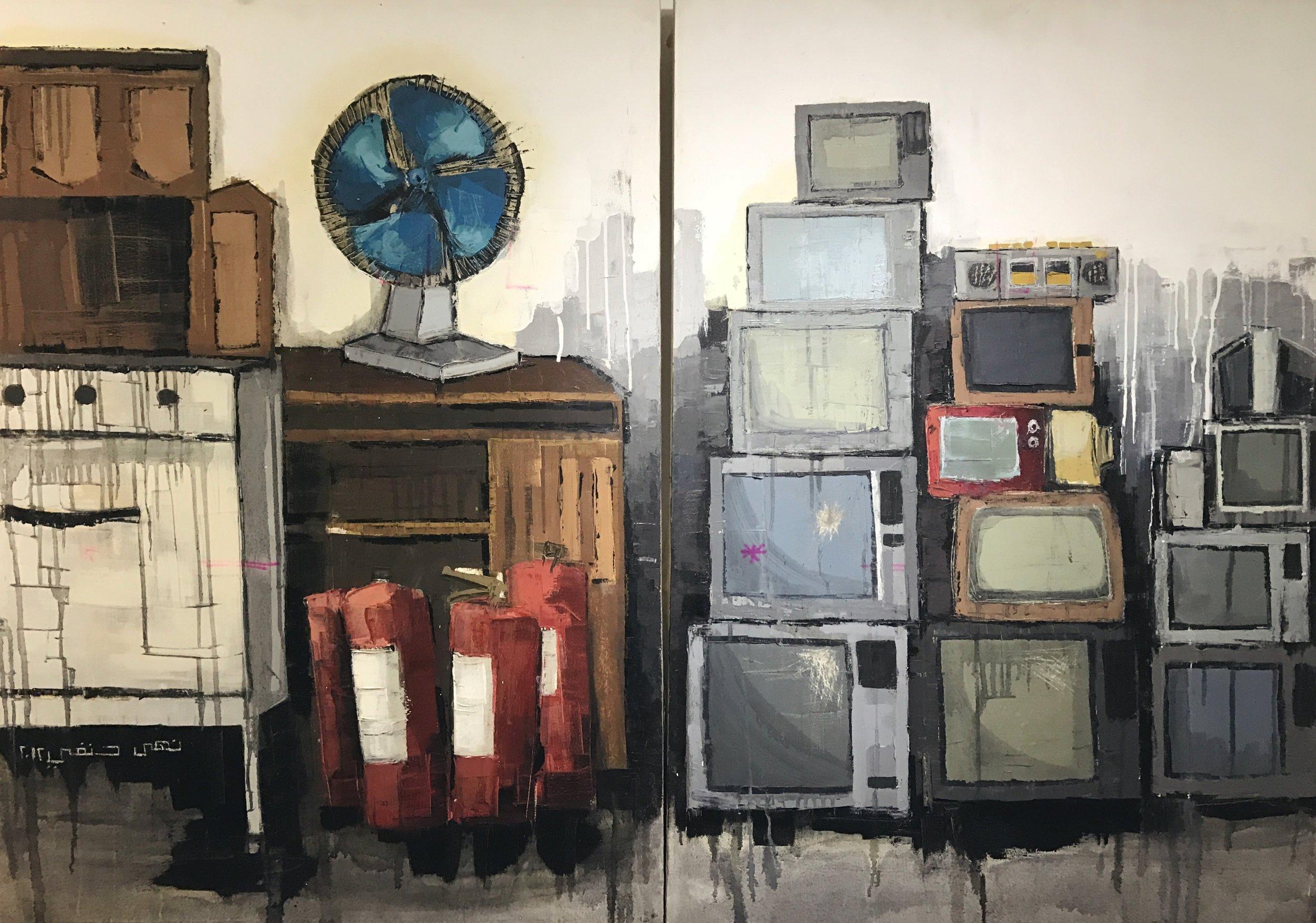 Noha Hanafi   Acrylic on canvas  140 x 100 cm  2012