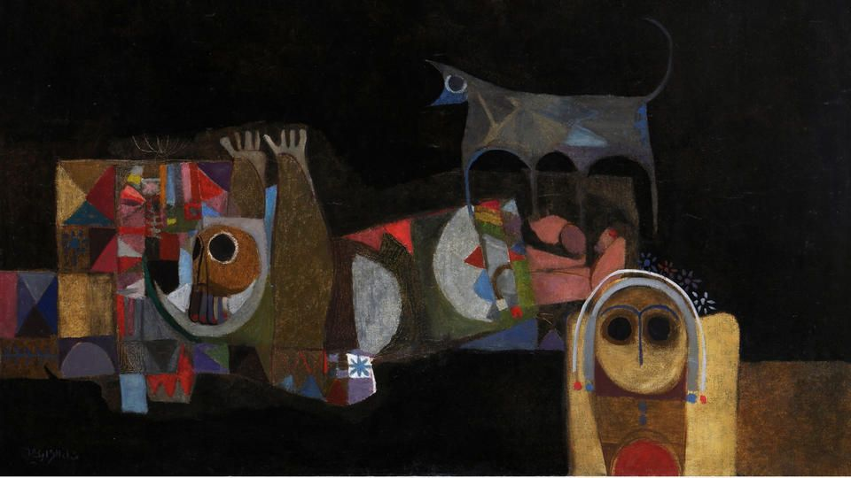 A Wolf's Cry (Diaries of a Poet)   1968. Oil on canvas.