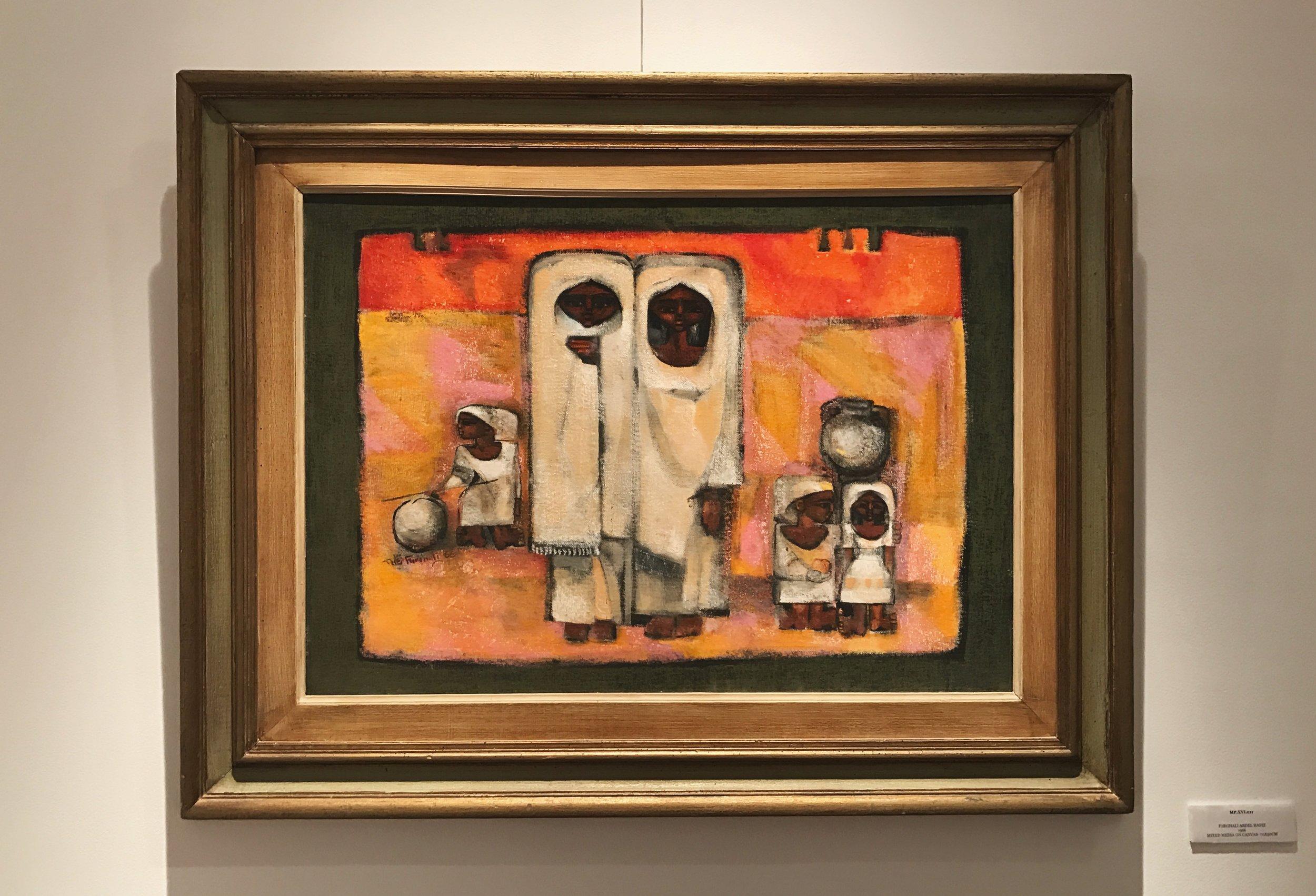 Farghali Abdel Hafiz   Mixed media on canvas  70x 50 cm  1966