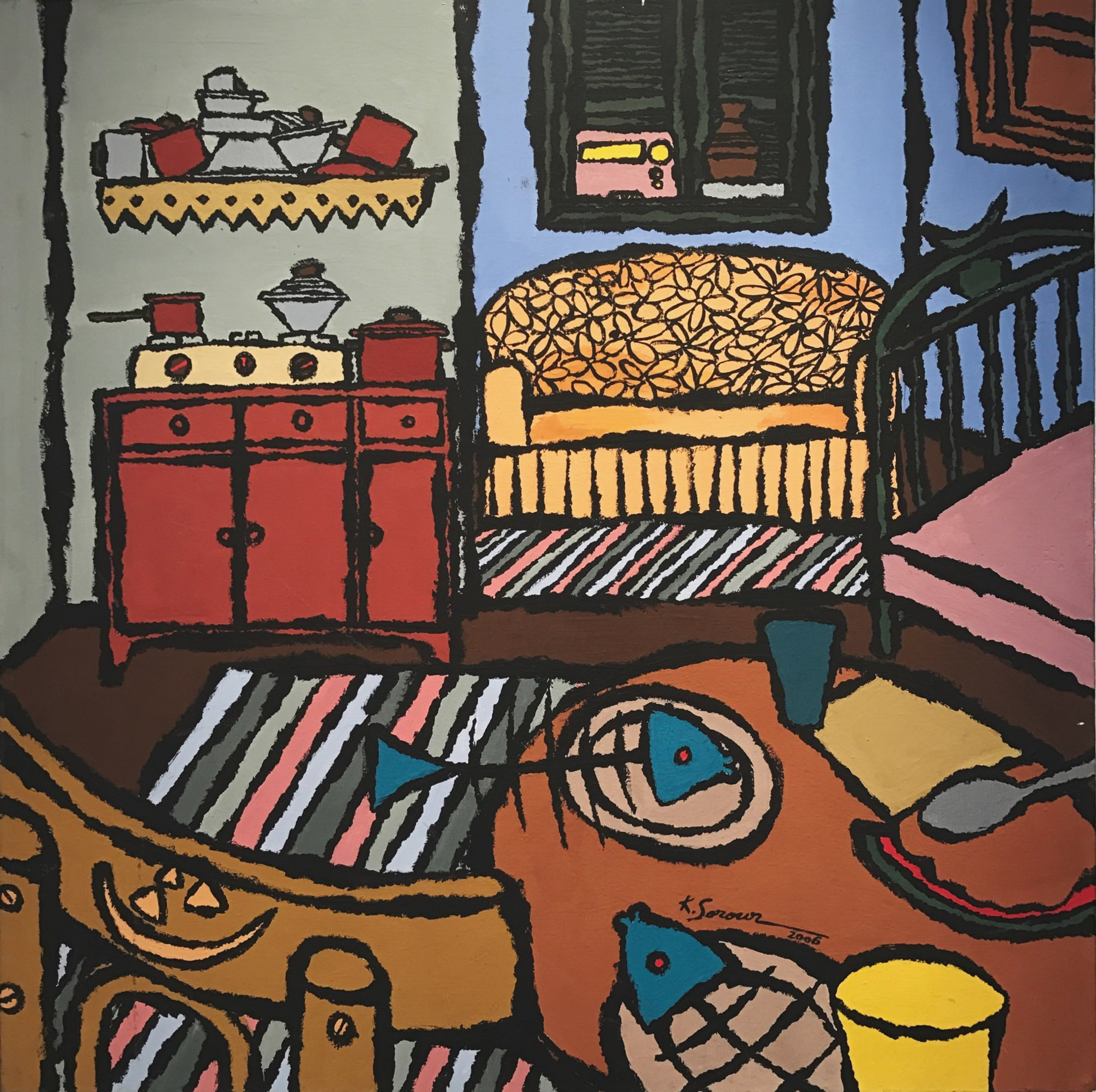 Khaled Sorour   Acrylic on canvas  80 x 80 cm  2006