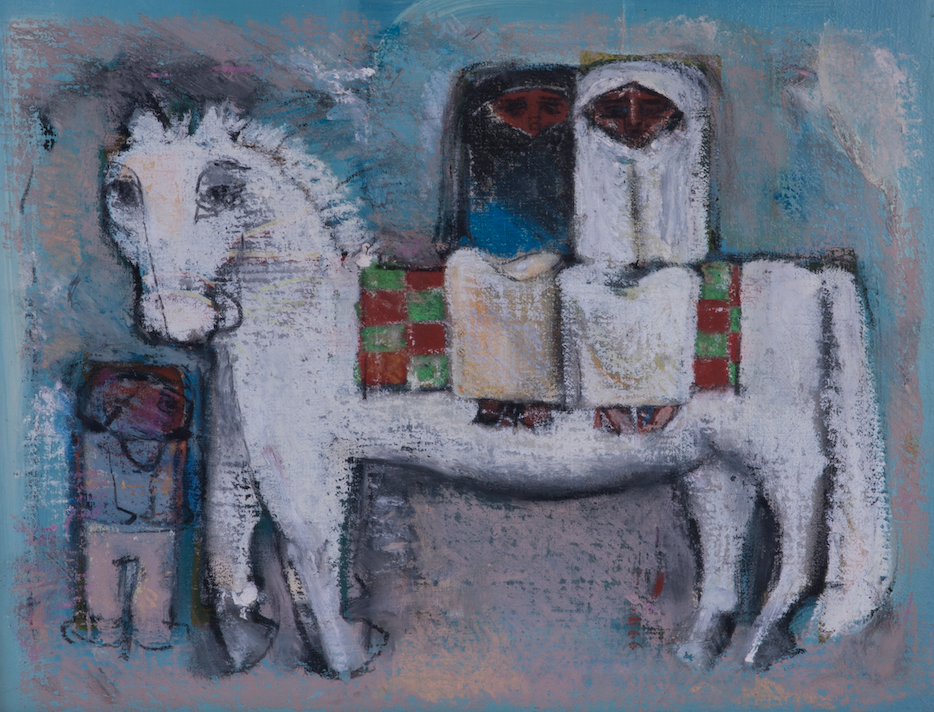 Farghali Abdel Hafiz   Mixed media on Canvas  43 x 33 cm