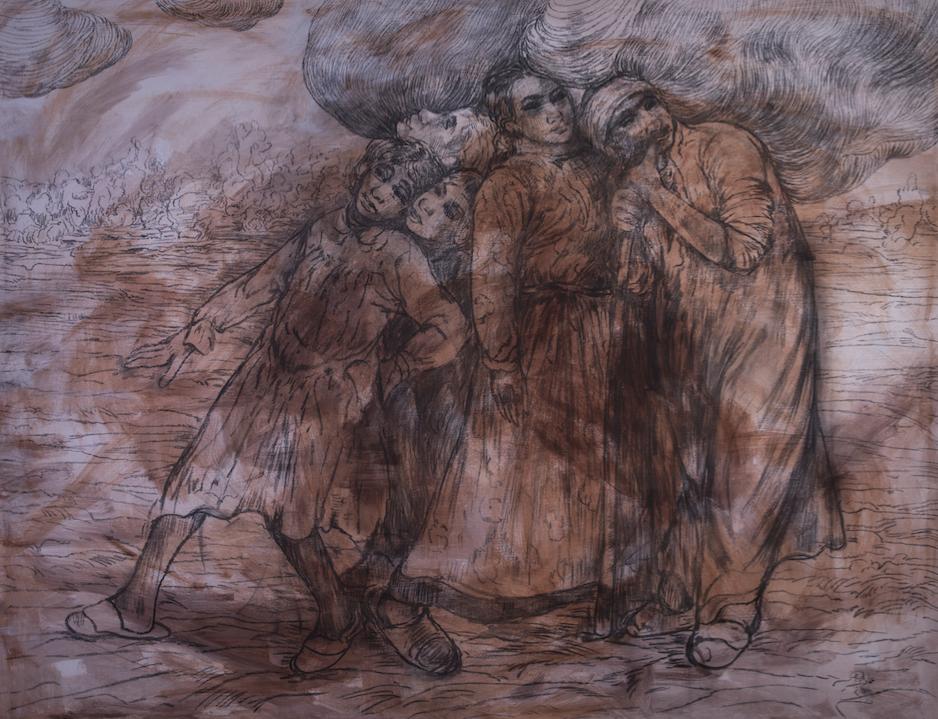 Emad Ibrahim  Mixed media on canvas  180 x 136 cm  2011
