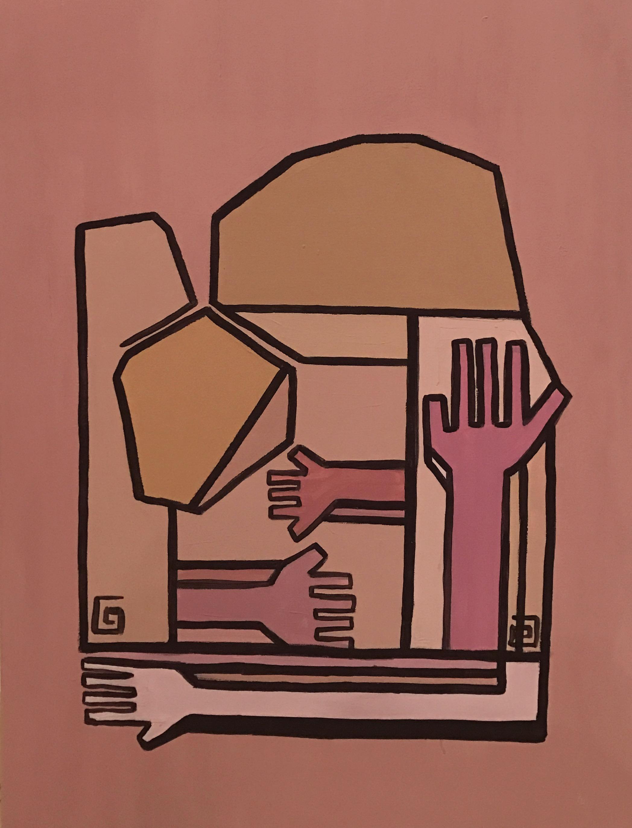 Motherhood VI   Acrylic on canvas  80 cm x 60 cm x 3.8 cm