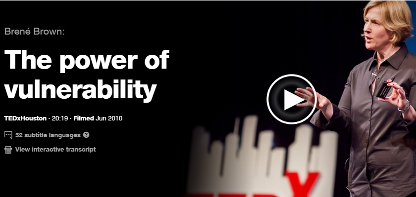 The Power of Vulnerability - A Ted Talk by Brene Brown