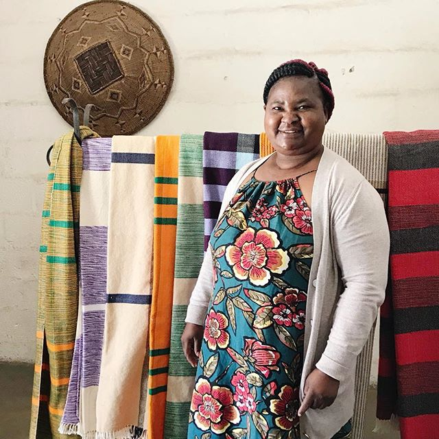 Meet Martha. She has run a weaving business in Lusaka Zambia for 20 years. She weaves blankets and bed covers locally but is expanding into exports with a goal of growing her market share and her ability to employ more weavers full time. We all have goals and dreams for our businesses. We can support each other's goals by working together across the globe. What do you dream for your company? #socialenterprise #worldchangers #globalpartners #dogoodtogether