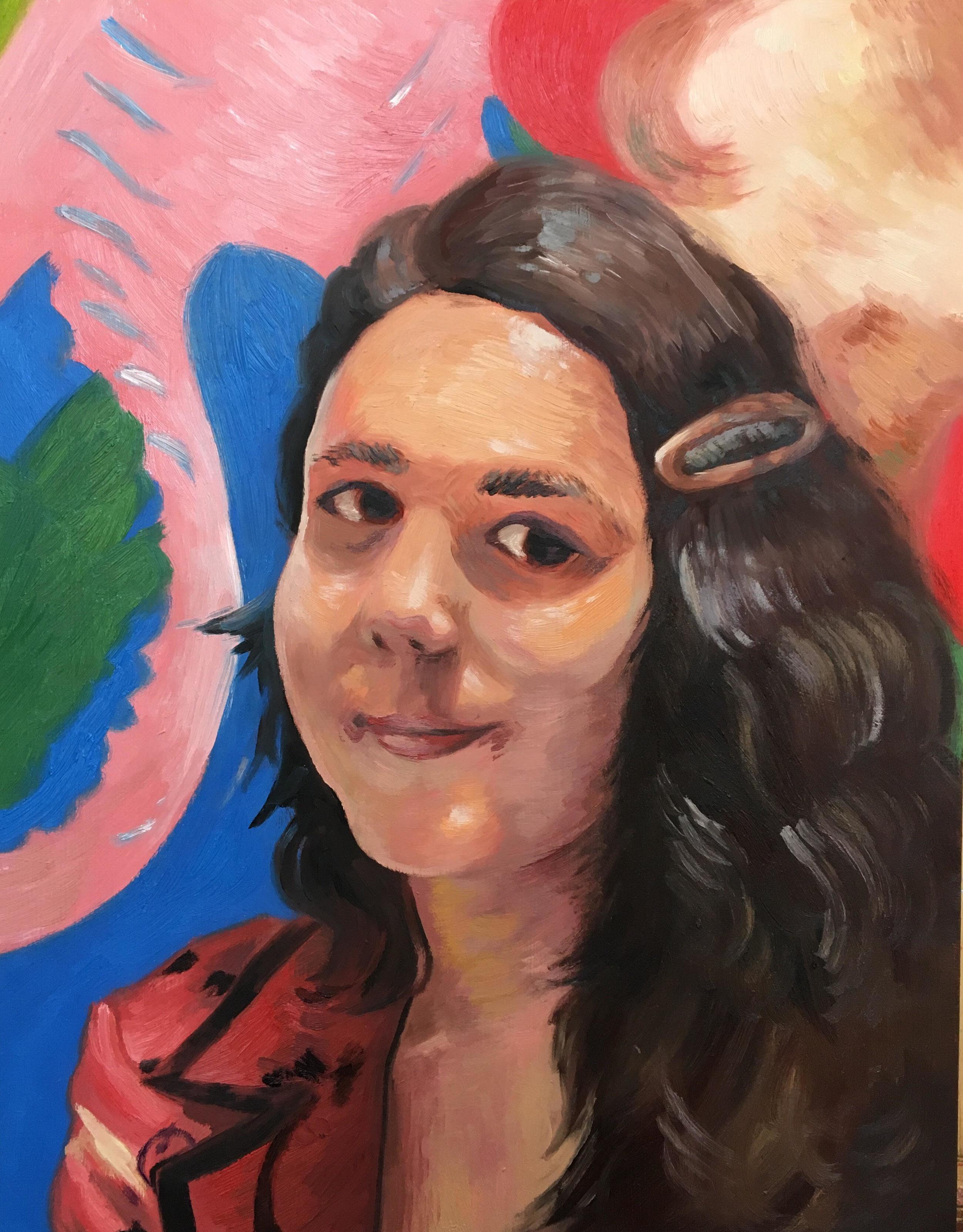 Manu  (2017), Oil paint on woodblock