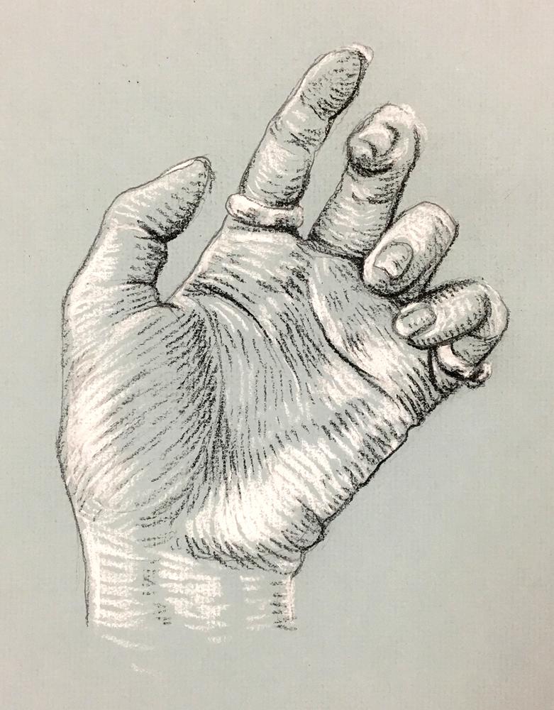 """Hand Study,"" Izzy Peterson, 2017"