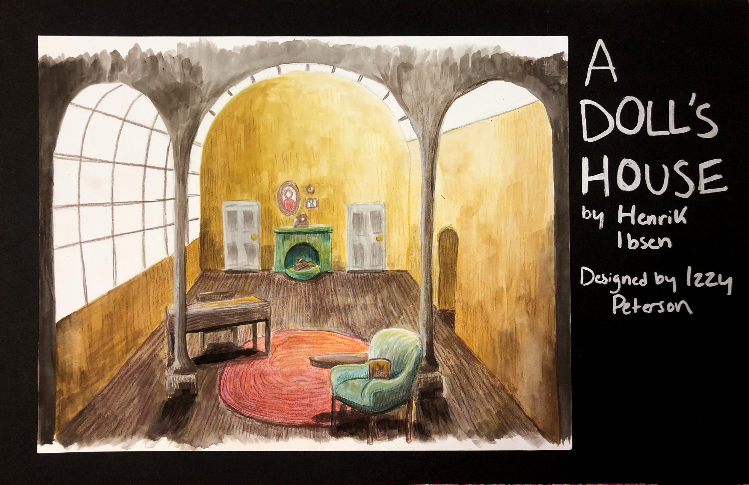 Concept Rendering for A Doll's House by Henrik Ibsen