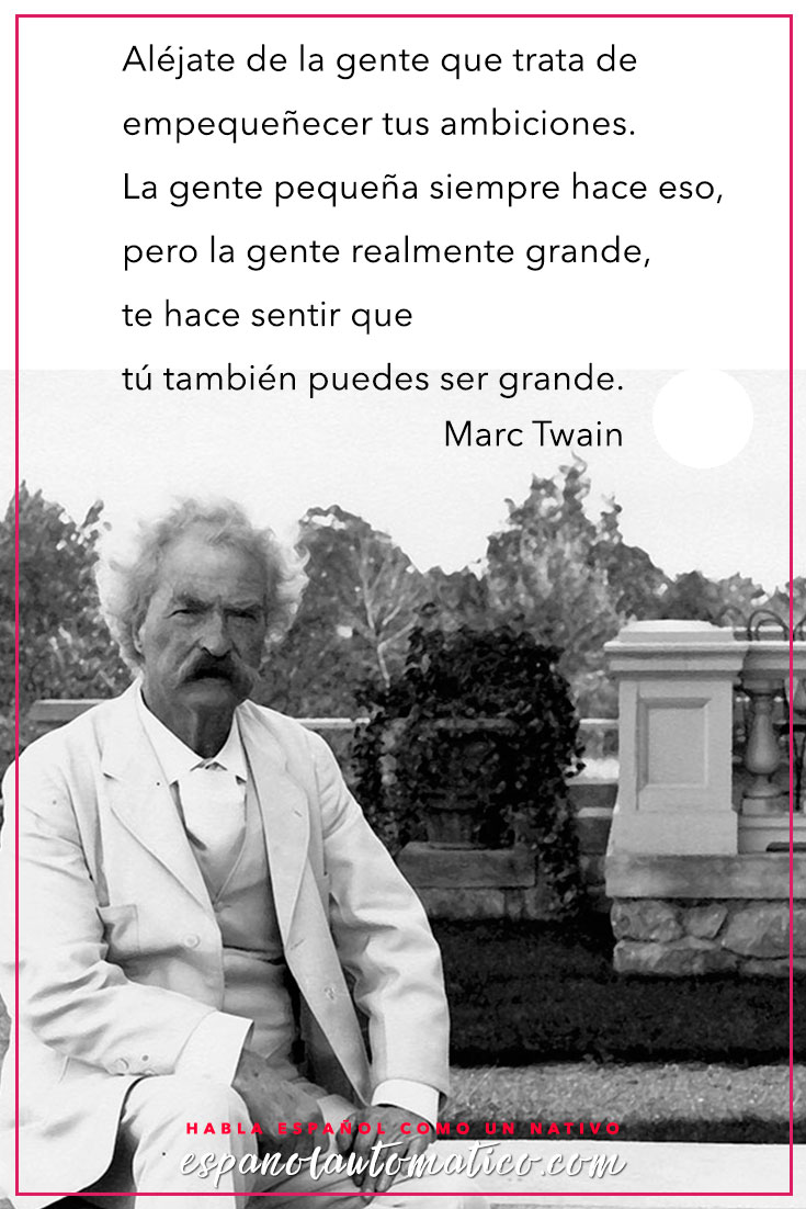 Quote / Inspiration in Spanish / motivation for learning Spanish / Spanish podcast— More fun Spanish Resources at http://espanolautomatico.com Repin for later!