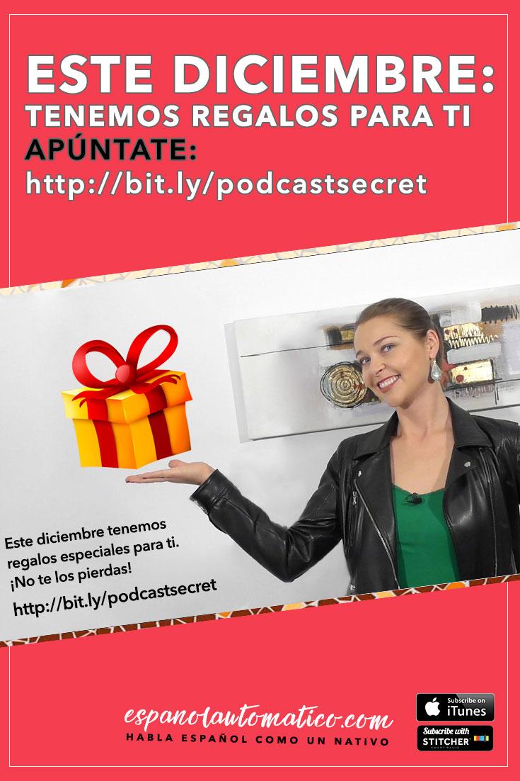 Este diciembre tenemos regalos especiales para ti (edición limitada). Apúntate para recibirlo gratis enhttp://bit.ly/podcastsecret