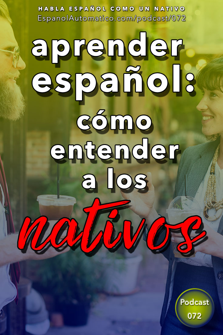 ¿Los españoles hablan demasiado rápido? 5 pasos para solucionarlo [Podcast 072] Learn Spanish in fun and easy way with our award-winning podcast: http://espanolautomatico.com/podcast/072 REPIN for later