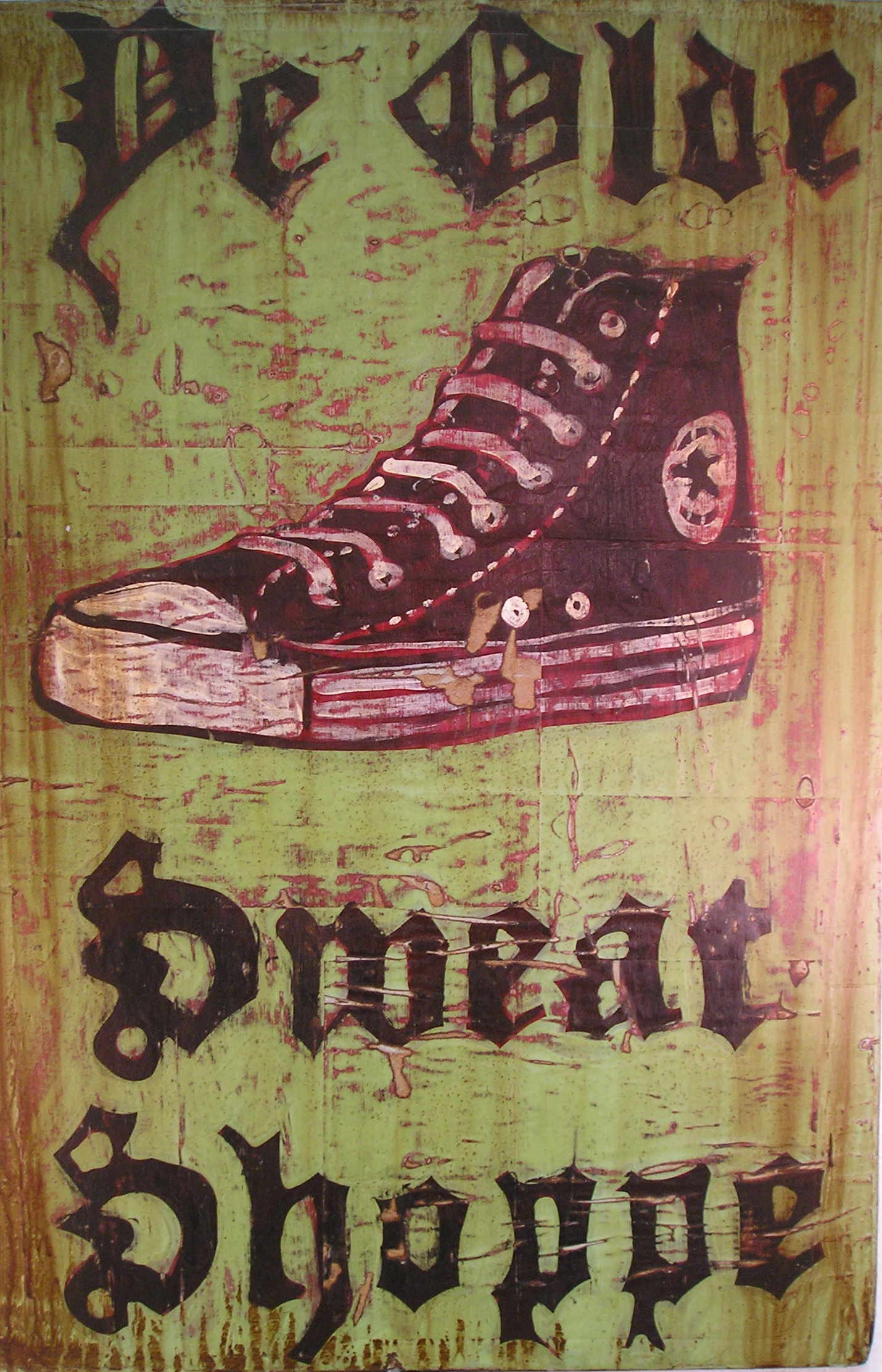 9. ye olde sweat shoppe, 2009,                          acrylic on paper on wood 30in x 20in.JPG