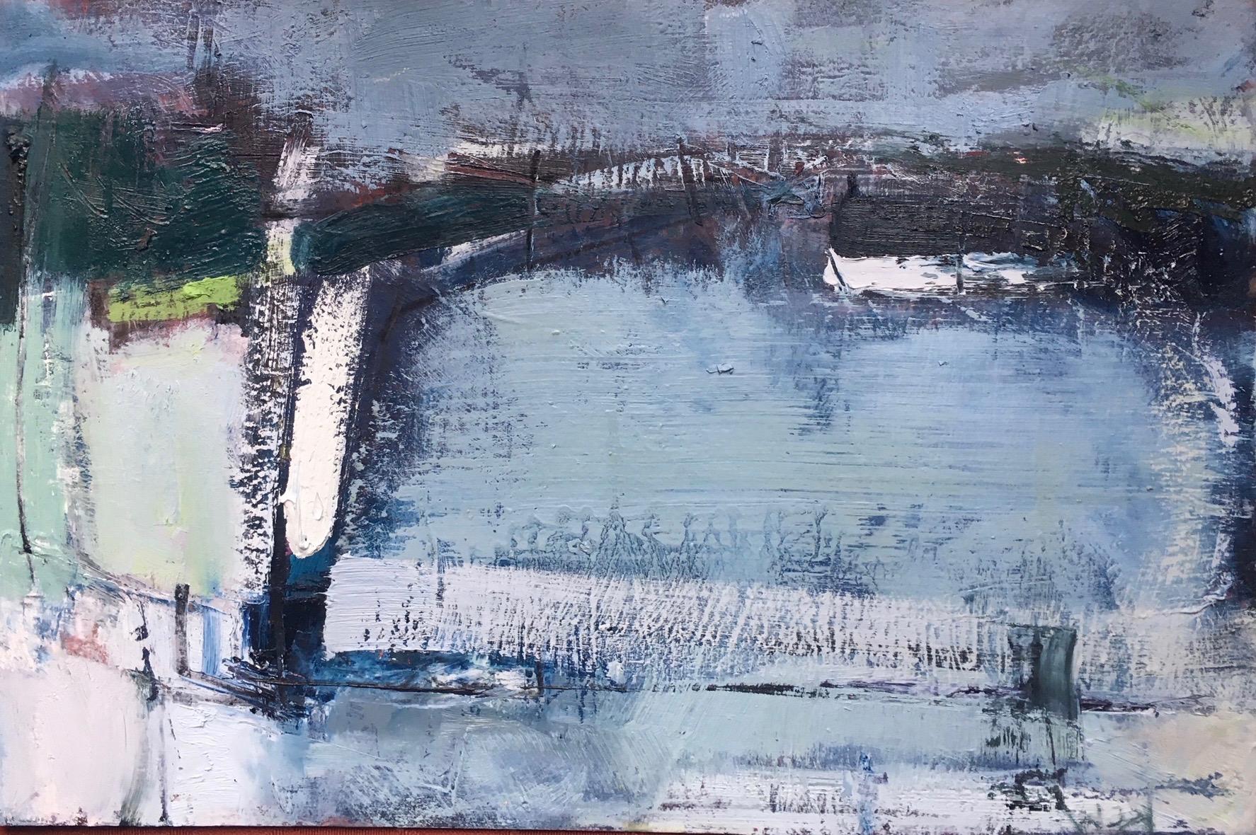 January fields. mid wales    OIL ON BOARD , 26 x38cm