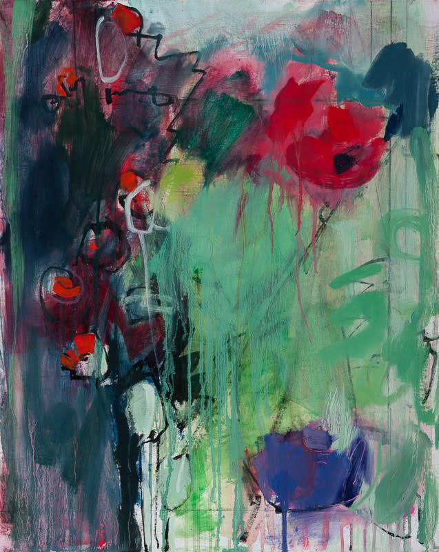 Oriental Poppies  Oil on board 76 x 61 cm