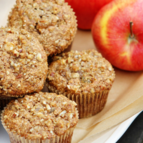 Guilt (and Gluten) Free Apple Oatmeal Muffins