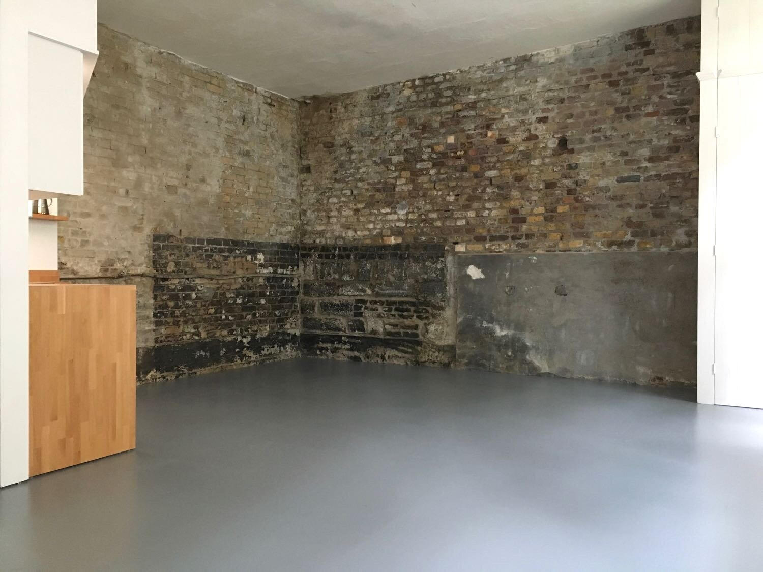 studio two without wall cladding